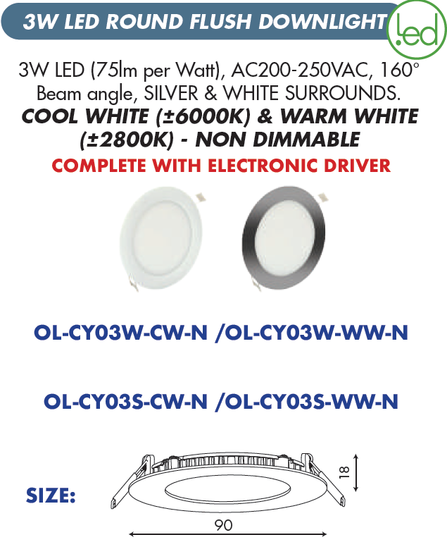 LED Round Flush Downlight