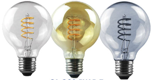 5W: LED Mini DECOR BULB - E27 SPIRAL FILAMENT BULB (G80)