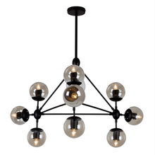 Load image into Gallery viewer, Harrington 8LT Pendant 800mm Amber Glass - P910 / P911 / P912 / P913