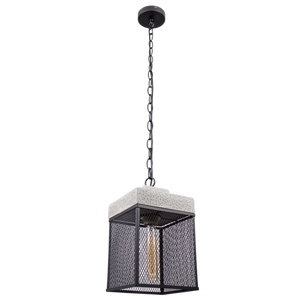 Cement and Metal Cage Pendant - PEN349 STONE