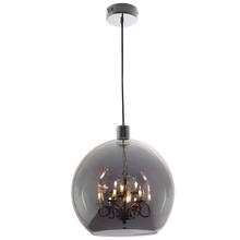 Load image into Gallery viewer, Polished Chrome Pendant with Smoke or Clear colour glass:  Pen625