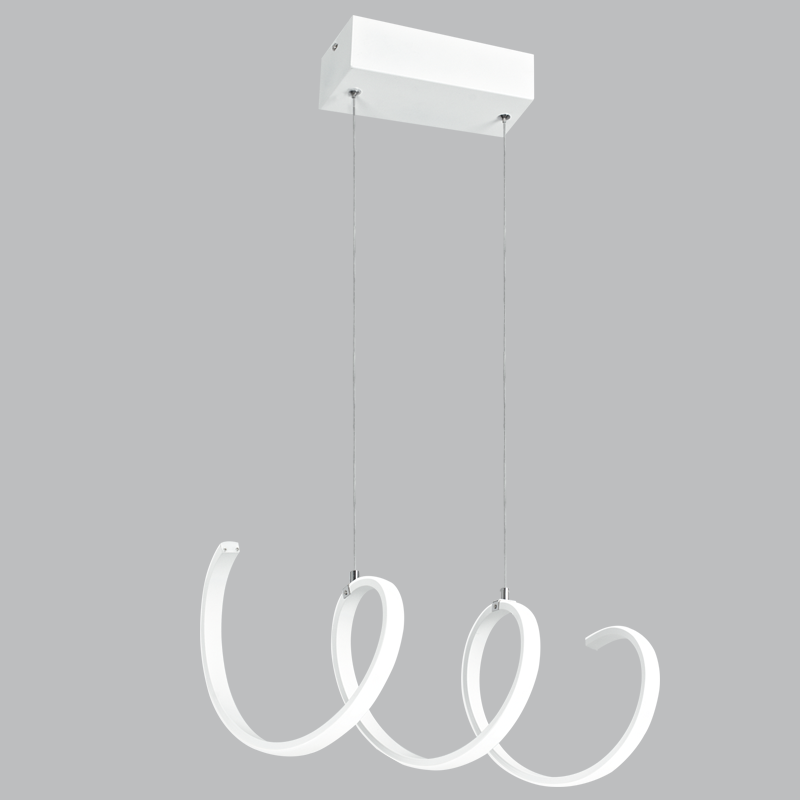 White Aluminium and Plastic LED Pendant - PEN730