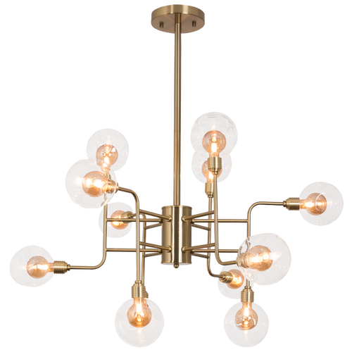 Metal and Glass Chandelier - CH260/12