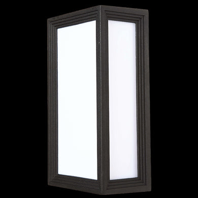 Rectangular Bulkhead, Black - 230v 40W E27