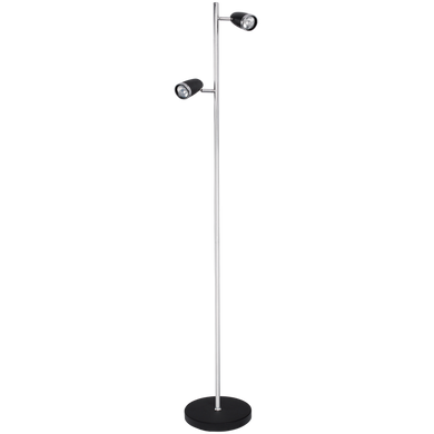 Black and Chrome Standing Lamp