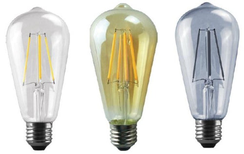 8W: LED Pear DECOR BULB - E27 STRAIGHT FILAMENT BULB (ST64)