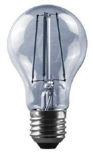 8W: LED Oval DECOR BULB - E27 Straight Filament Bulb (A60)
