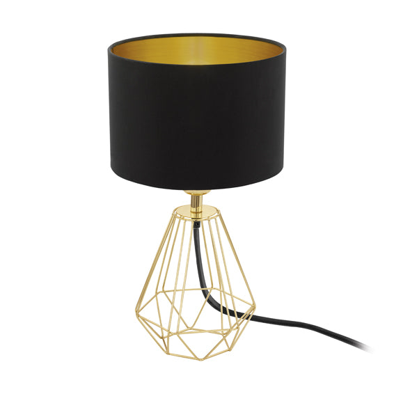 Carlton2 T/Lamp 165mm Black/Gold