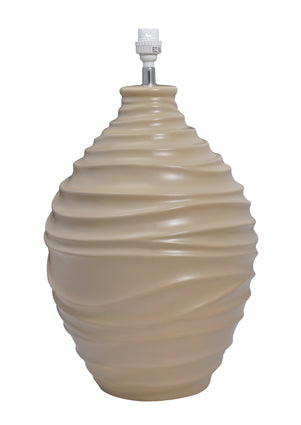 Beige table lamp base - T391BE