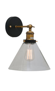 Funnello W/Light Antique Brass