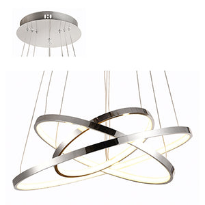 3 Ring Pendant LED 60w 4000k Chrome