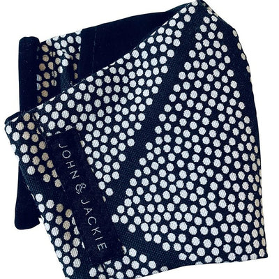 Black & White Pok-A-Dot Face Mask