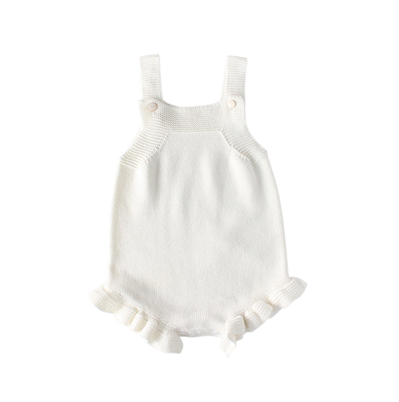 White Knitted Romper