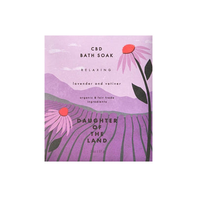 Relaxing CBD Lavender + Vetiver Bath Soak
