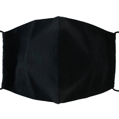 Reusable Black Linen Face Mask