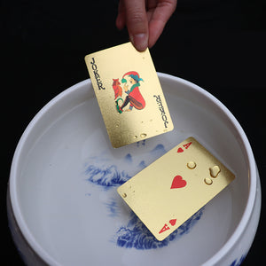 Golden Playing Cards (Golden cards + wooden box + Certificate card)