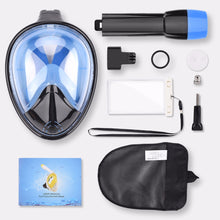 Full Face Snorkelling Masks, Panoramic View, Anti-fog, Anti-Leak & GoPro Compatible Scuba Diving Mask