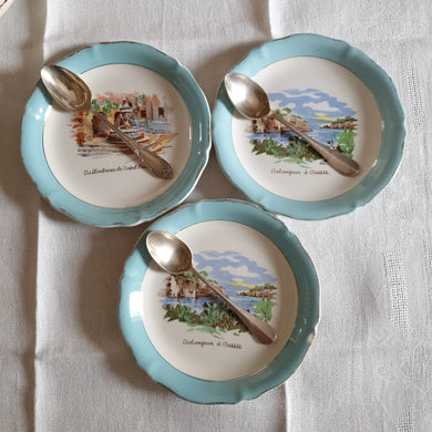 faience Saint Amand crazy french vintage