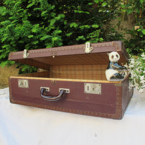 Valise vintage marron SUZANNE 1930 - CRAZY FRENCH VINTAGE