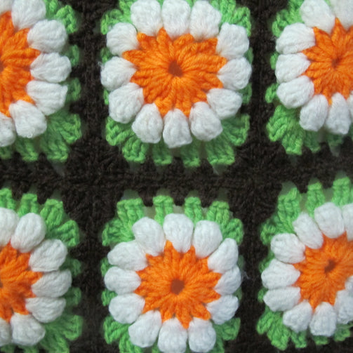 Chemin de table vintage granny square - CRAZY FRENCH VINTAGE