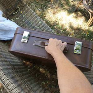 "Petite valise vintage ""Constellation"" made in France marron"