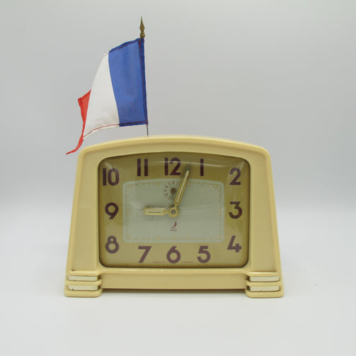 Pendule de salon Réveil vintage JAZ France 1957 - CRAZY FRENCH VINTAGE