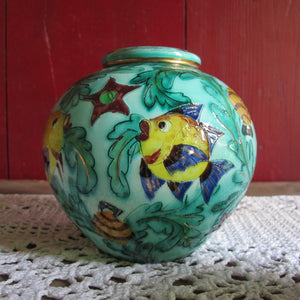 Vase vintage Monaco décor Poisson CRAZY FRENCH VINTAGE