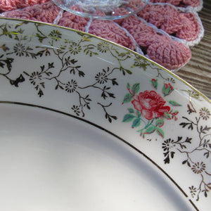 Assiettes anciennes Villeroy et Boch Set de 6 Assiettes plates en porcelaine - CRAZY FRENCH VINTAGE