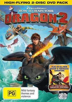 DVD - How to Train Your Dragon 2 : High Flying 2 Disc [2014] (Used)