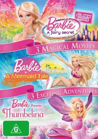 DVD - Barbie 3 Magical Movies/3 Exciting Adventures (Preowned)