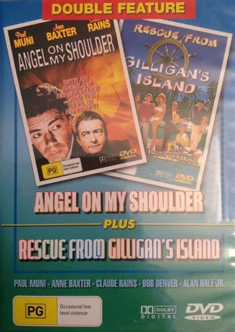 DVD - Angel on my Shoulder \ Rescue from Gilligan's Island (Preowned)
