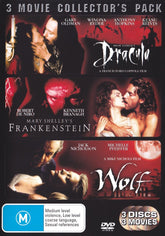 DVD - Mary Shellys Frankenstein /Bram Stockers Dracula/Wolf (Preowned)