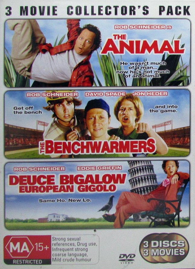 DVD - Animal, The / Benchwarmers, The / Deuce Bigalow (Preowned)