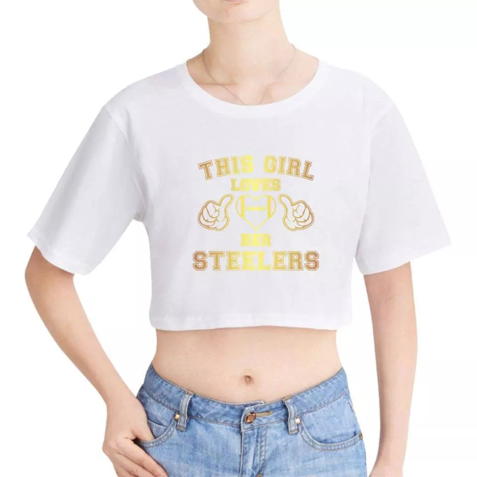 86931ad4d95bb Womens Steelers Cropped Tee s · Womens Steelers Cropped Tee s ...