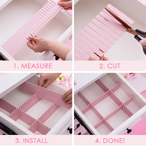 Free Combination Adjustable Drawer Organizer (Set of 4) 05