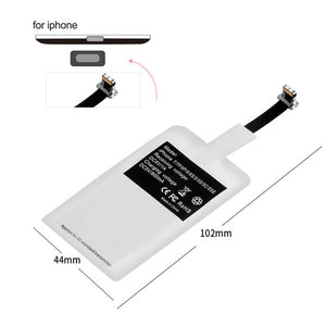 Qi wireless charger receiver Induction Adapter For iphone/Android/Micro/Type C
