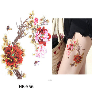 Flower Bird Decal