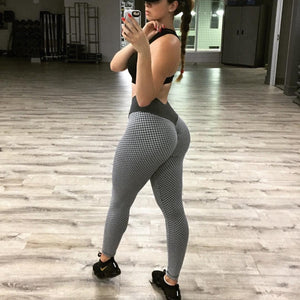 Women High Waist Dot Fitness Leggings