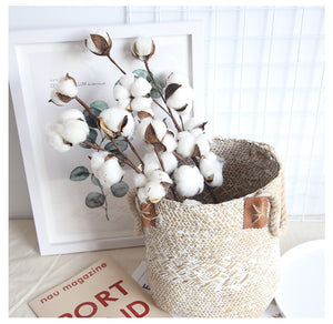 10 Head Naturally Dried Cotton Flower - Fake Flowers Home Decor