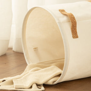 Waterproof Laundry Basket - Kids Toy Clothes Organizer Storage Basket -Large Cotton Linen Clothes Basket