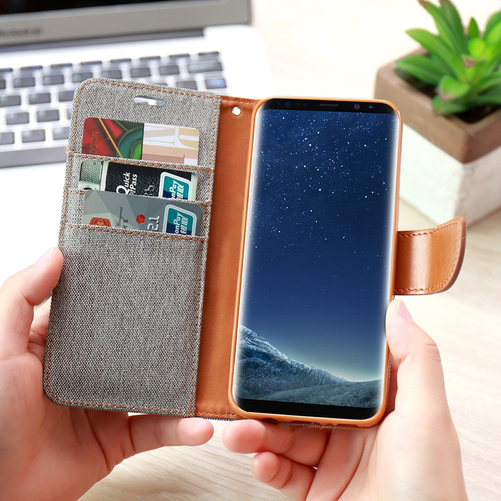 Magnetic Wallet Card Slot Phone Case For Samsung Galaxy
