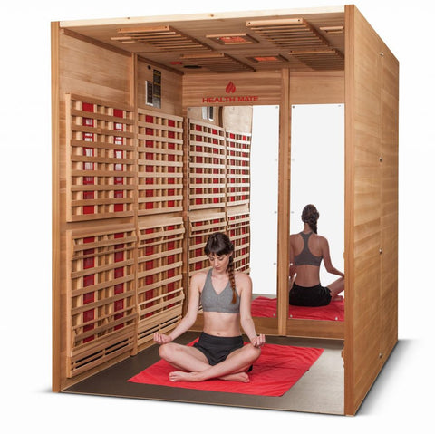 Health Mate Sports 6 Person Infrared Sauna GSE-6-BT-CL