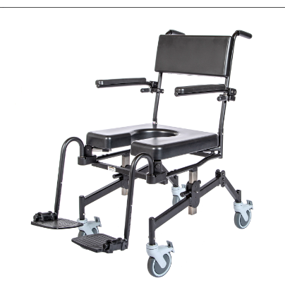 ActiveAid 1100 Rehab Shower / Commode Chair - Seat Height / Slope Adjustable (Open Box / Custom Package)