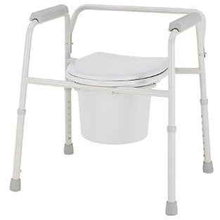 Merits Deluxe 3-In-1 Steel Commode C311 (Pack of 4)