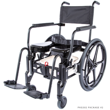 ActiveAid 922 Rehab Shower / Commode Chair - Folding - General Medtech