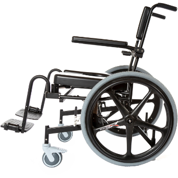 ActiveAid 1100 Rehab Shower / Commode Chair - Seat Height / Slope Adjustable - General Medtech