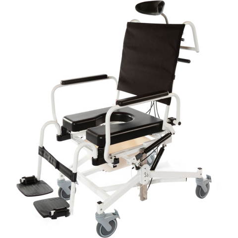 ActiveAid 285TR Rehab Shower / Commode Chair - Tilt, Recline, Seat Height Adjustment - General Medtech