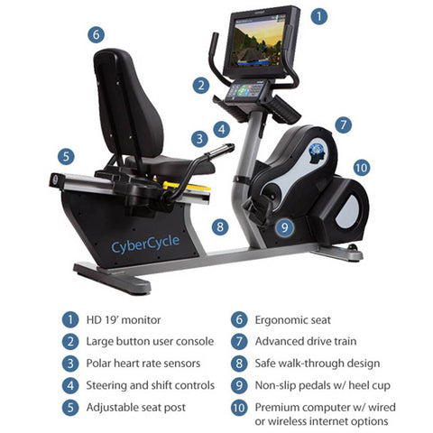 Medical Fitness Solutions CyberCycle Recumbent Bike - General Medtech
