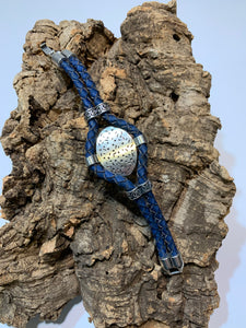 Spoon bracelet blue