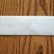 "1.5"" Wide White Classic Braided Elastic Trim"